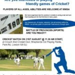 Annual Cricket Match – Sunday 21st August – Players Required !