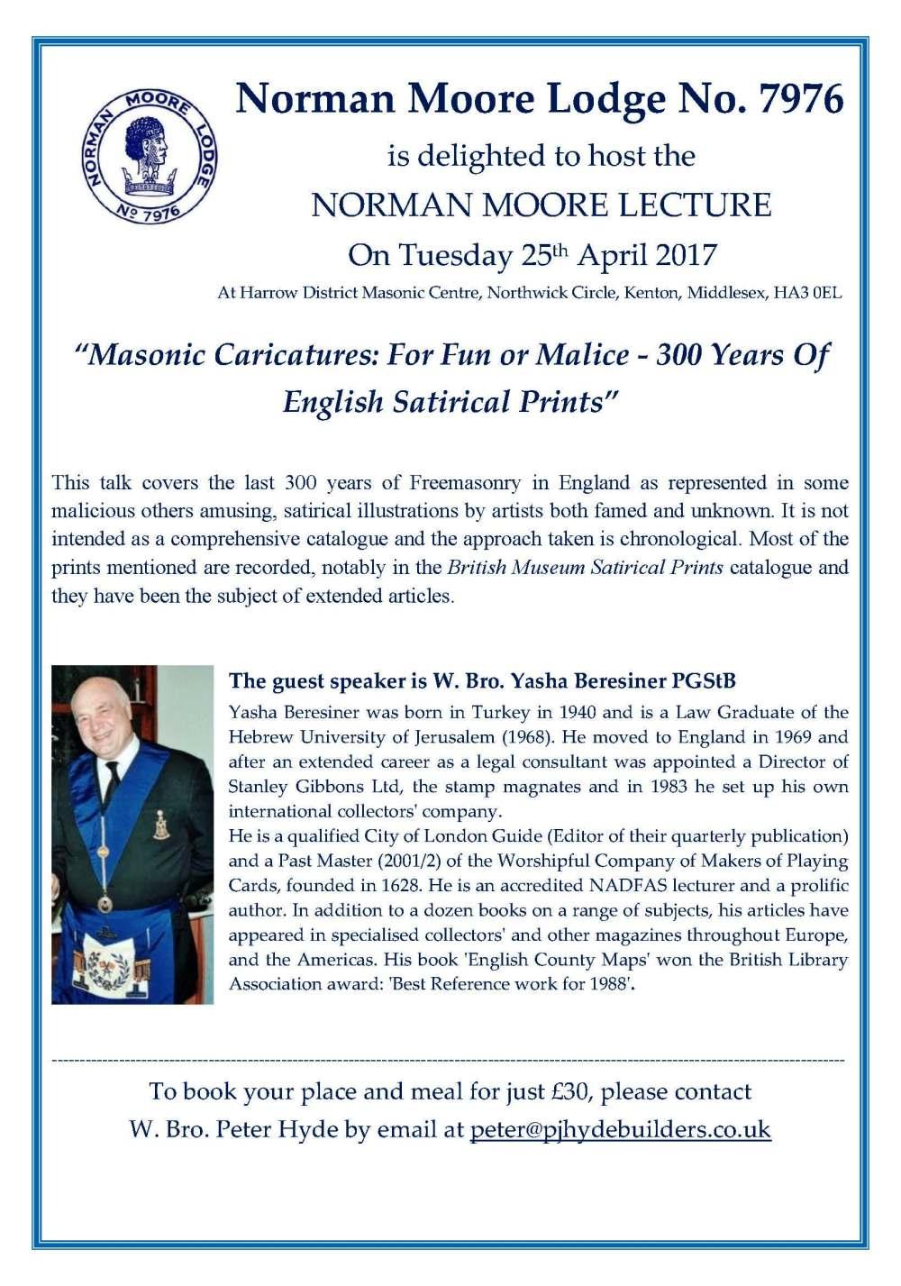 NML Lecture Flyer - April '16
