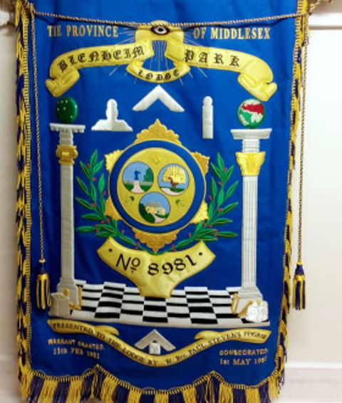 Blenheim Park Lodge No 8981 Banner