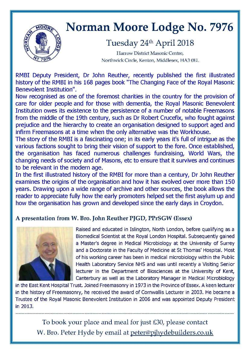 NML Lecture Flyer - Apr '18