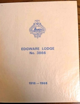Booklet detailing the 50 yr Jubilee history of the Lodge