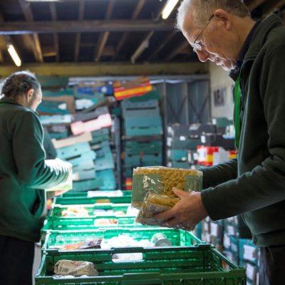 Foodbank warehouse - Sorting food