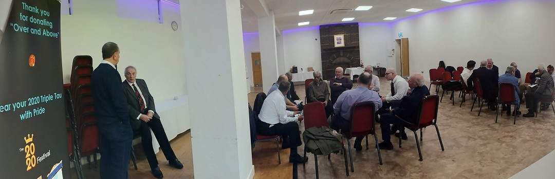 Lodge and Chapter Charity Stewards discussing fund raising ideas for The 2020 Festival
