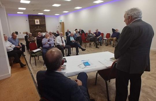 Charity Stewards listening to John Briggs
