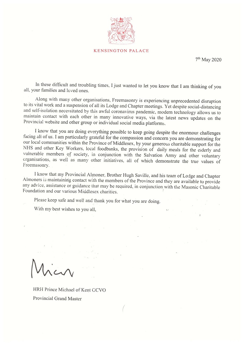 Download a copy of the letter HERE