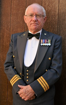W Bro Gil Singleton in the mess dress of Wing Commander RAF