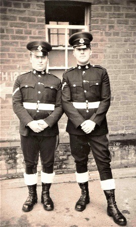 W. Bro Stan Marut on the right at Stanhope Lines, Aldershot in 1968 (160 Provost Company RMP)