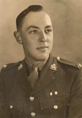 2nd Lieutenant Howard Pettinger with MC Ribbon on his uniform.