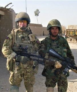 W Bro Frankie on the left on active duty
