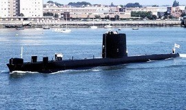 A typical Cold War submarine of the Royal Navy – HMS Oberon